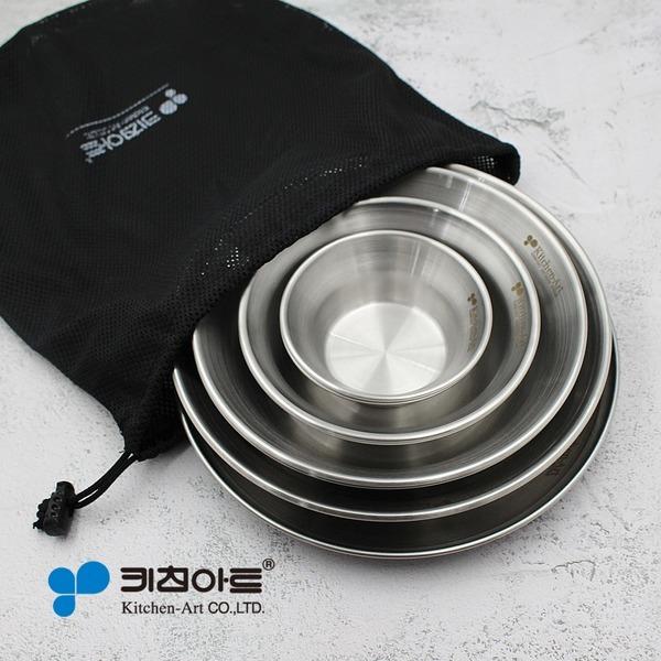 캠핑용품 (스텐27종) 스텐 식기세트 8p