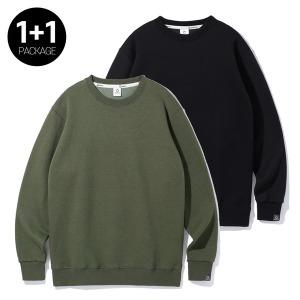 앨빈클로 1+1 따뜻한 기모 맨투맨 티셔츠