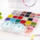 DIY 시드 비즈 팔찌만들기 세트 반지 공예 부자재 재료