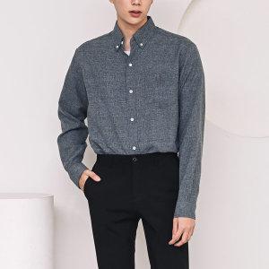 남성 싱글 포켓 보카시 캐주얼 셔츠 /C94 그레이