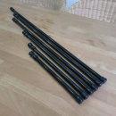 길이조절압축봉30-50CM(직경1.3cm) BLACK 커튼봉 수납