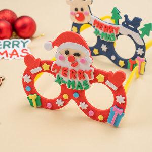 크리스마스 EVA 안경 만들기 산타 재료 키트 diy 세트