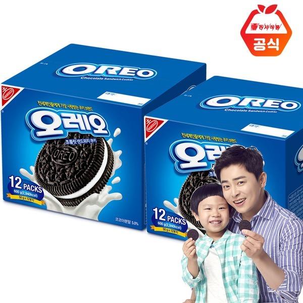 오레오 쿠키 화이트크림맛 600g 2개