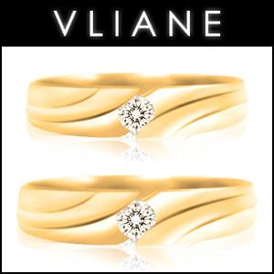 VLIANE 브리앙 18K 크라센 다이아몬드 커플링 세트