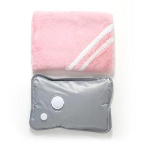 온수 찜질기 충전식 찜질팩 파우치형(라인)-핑크