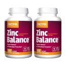 2개 Jarrow 아연 징크 Zinc 밸런스 15 mg 100 캡슐