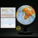 30cm 지형 타임존 조명 지구본 30-TZL / 지세 높낮이