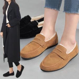 리밋2201 뽀송뽀송 FUR 로퍼 여성 겨울 털 신발