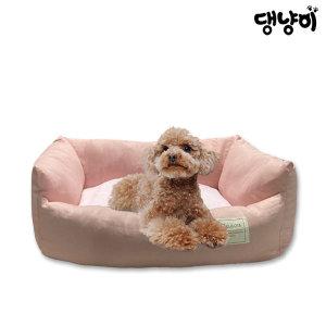 댕냥이 반려동물 폭신폭신 파스텔 사각쿠션 핑크(L)