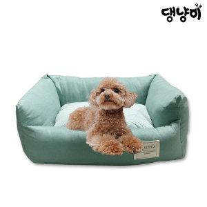 댕냥이 반려동물 폭신폭신 파스텔 사각쿠션 민트(M)