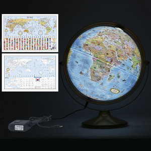 30cm 키즈 파인 조명 지구본 30-KFL / 어린이 360도
