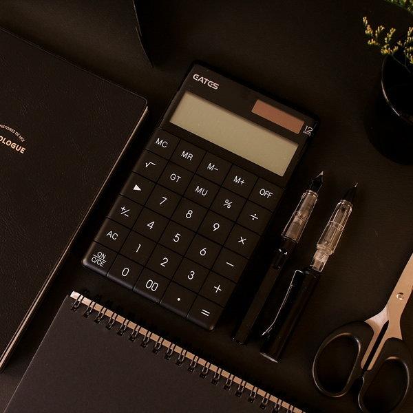 (바보디자인)갓샵 블랙 디자인 미니 사무용 전자 계산