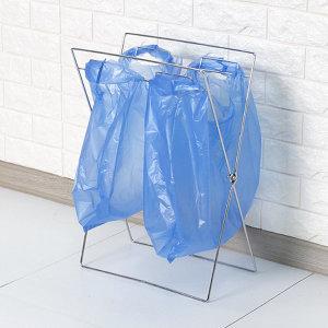 접이식 2단 분리수거대 재활용 쓰레기통 분리수거함