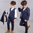 남자어린이 키즈 가을겨울 기모 정장 조끼 셔츠세트S1