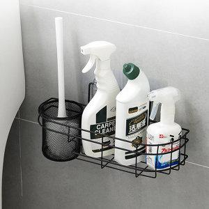 무타공 욕실 철제 변기솔 청소도구 걸이 선반