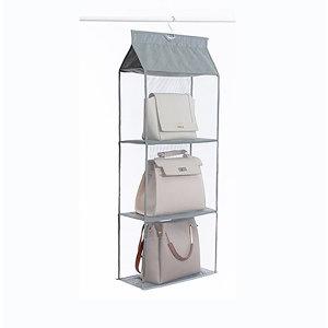 회색/3단-드레스룸 붙박이장 다용도 수납 진열대