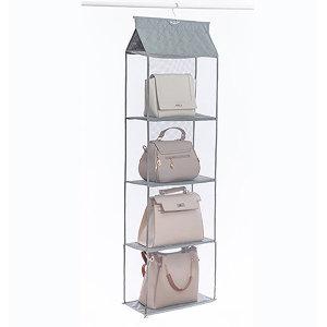 회색/4단-가방 모자 니트 아기옷 수건 정리정돈 수납
