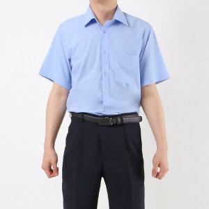 남성 무지 솔리드 반팔 와이셔츠/ 1055 라이트블루