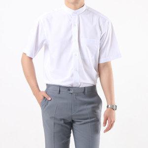 남성 차이나칼라 반팔 와이셔츠 / 1060 화이트