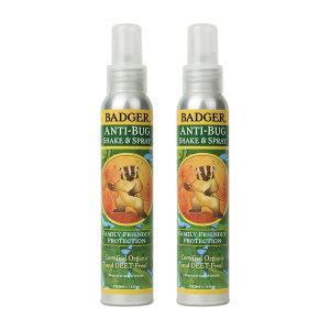 2개 Badger 안티 버그 쉐이크 스프레이 118.3 ml