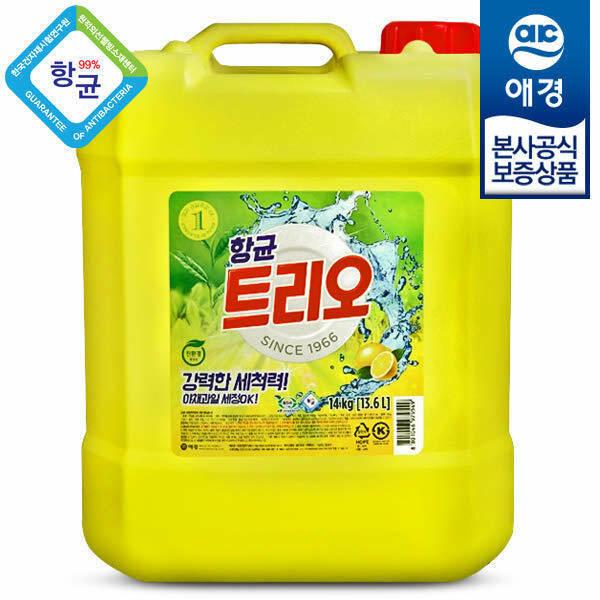 (현대Hmall)트리오 대용량 항균 주방세제 14kg
