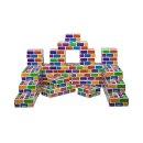 빅 컬러 종이 벽돌 블럭 (04921) 대형 사각 쌓기 놀이