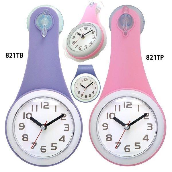 (색상 보라) 물방울 주방 욕실 방수 시계 821T 욕실용