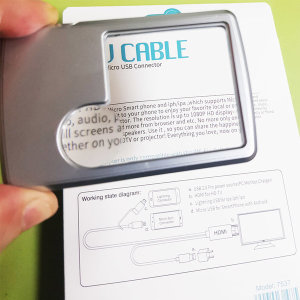 LED 돋보기 확대경 휴대용 6배 3배 독서 2가지 배율