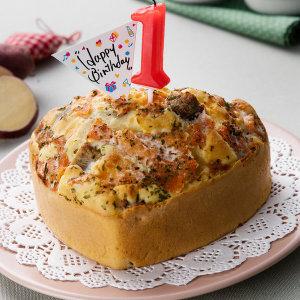 강아지케이크 강아지케익 오리구이+ 연어+ 치즈