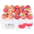 사과를 박스채 담아 햇부사 10kg(30~38과)중과 기스과