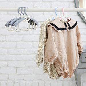 새싹옷걸이 확장형 4P 길이조절 아기옷걸이