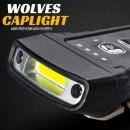 USB충전 180꺽임 COB LED 울브스 H100 낚시 모자랜턴
