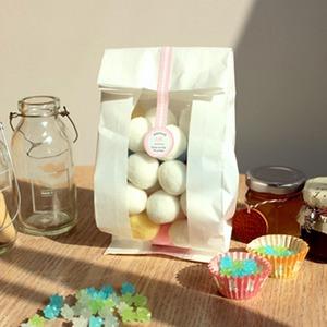 마카롱 쿠키 빵봉투 선물 포장 투명 종이 봉투
