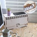 멀티탭 콘센트 정리함 박스 나무 우드 아트크로이 1