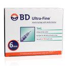 BD 인슐린 주사기 31G 6mm 1ml 324903 울트라파인II
