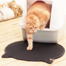 묘심 고양이화장실매트 발판 머리모양 블랙 53X56cm