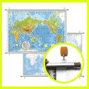 지형 세계지도 소형 코팅족자형 110-TH / 높낮이별