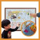 어린이 세계지도 소형 자석 일반 액자 110-CFM/만국기