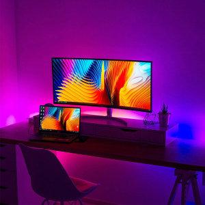 TV 모니터 간접등 무드등 USB 붙이는 LED바 줄조명 2m