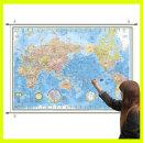 블루 세계지도 중형 코팅족자형 150-BH / 언어 인구수