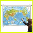 지형 세계지도 중형 코팅족자형 150-TH / 높낮이별