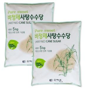 퓨어스윗 비정제 원당 10kg(5kgx2포) /비정제설탕