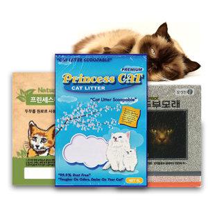 프린세스캣 고양이모래20L 두부모래6L 고양이화장실