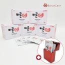 개별포장 일회용 향균 손 소독 티슈 5box + 케이스증정