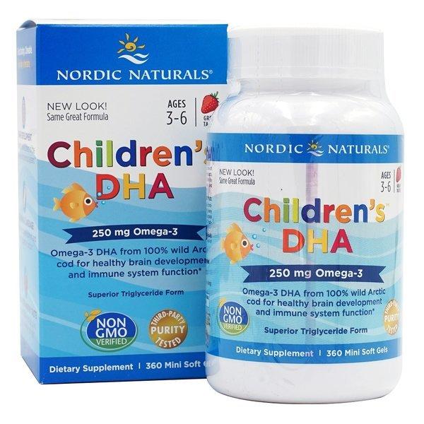 Nordic 어린이 칠드런 오메가3 EPA DHA 250 mg 딸기 360 미니 소프트젤