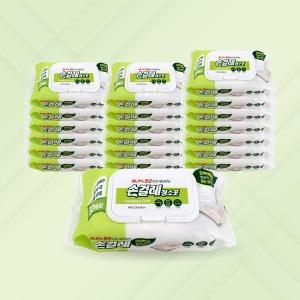 손걸레 청소포 80매 x 20개 / 일회용 방청소 물걸레