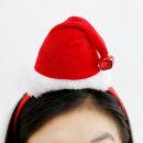 크리스마스_산타모자머리띠(방울) / 파티용품 소품