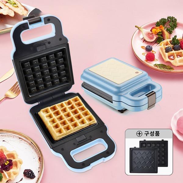 와플메이커(블루) 와플기 샌드위치 간식메이커 분리형