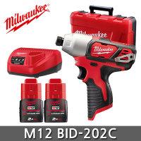 M12 BID-202C 충전임팩트드릴 배터리2개세트