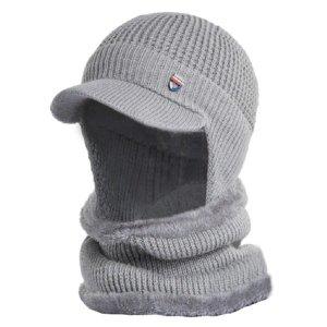 제이위즈 겨울 방한 털 모자 + 넥워머 세트 남자 여성